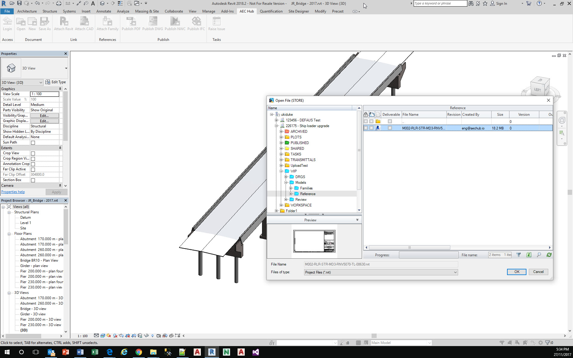 Revit Link Model from Cloud